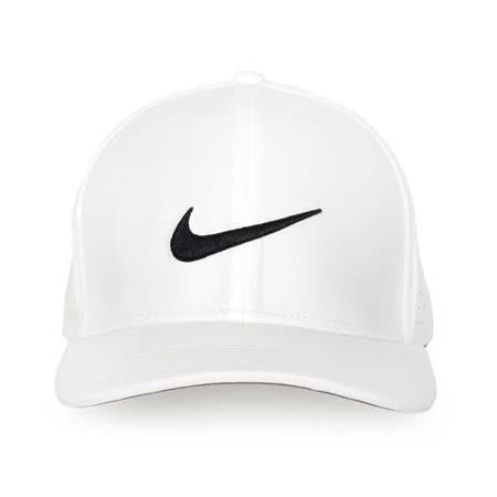 NIKE GOLF 運動帽-高爾夫球 帽子 鴨舌帽 防曬 白黑 L