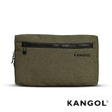 【KANGOL】韓國經典側背休閒包/學生包/情侶包(混織綠 KG1152-05)