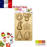 法國【Scrap Cooking】樂桃烘廚 聖誕風矽膠烤模