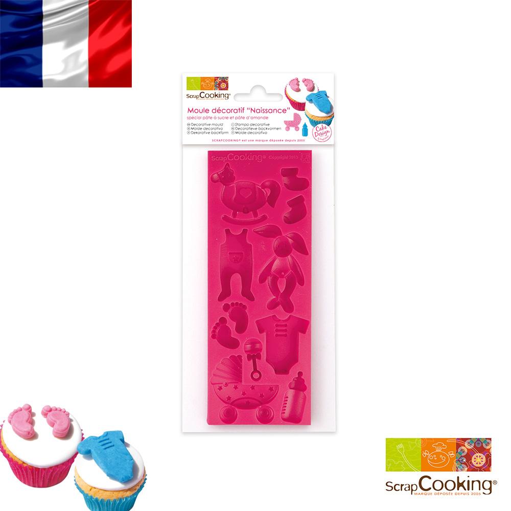 """法國~Scrap Cooking~樂桃烘廚 """"新生BABY""""翻糖裝飾模16x6cm"""