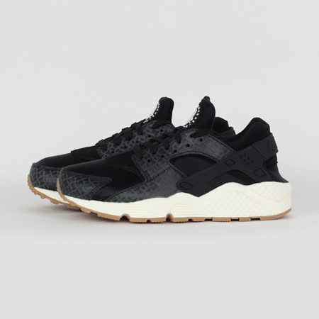 NIKE 女 WMNS AIR HUARACHE RUN PRM 休閒鞋 黑 683818011
