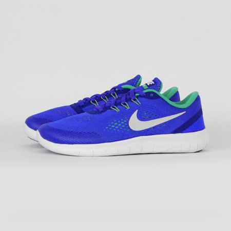 NIKE 女 NIKE FREE RN (GS) 慢跑鞋 藍 833989404