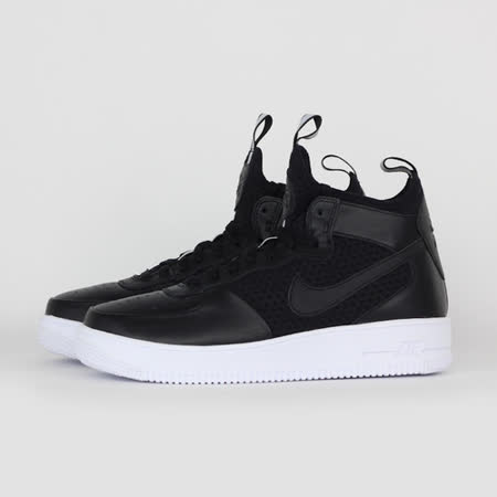 NIKE 女 W AIR FORCE 1 ULTRAFORCE MID 休閒鞋 黑白 864025001