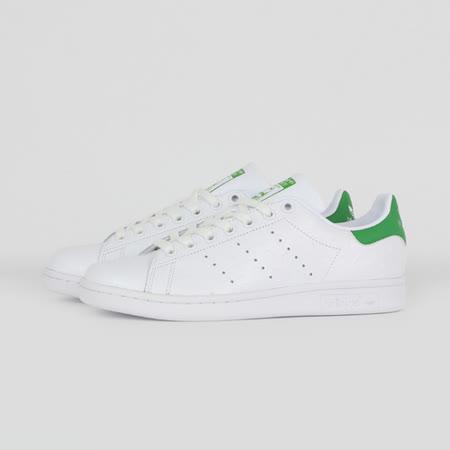 ADIDAS 女 STAN SMITH W 休閒鞋 白綠 S32262