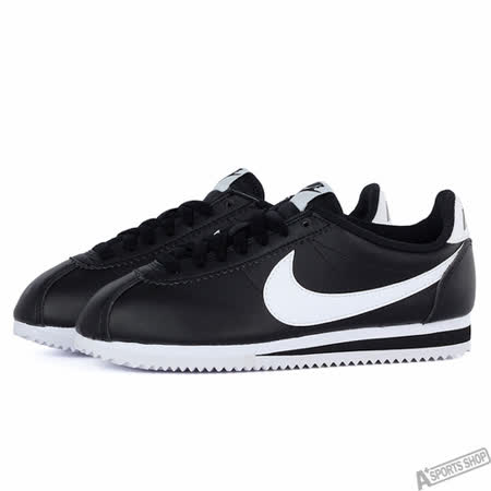 NIKE 女 WMNS CLASSIC CORTEZ LEATHER 休閒鞋 黑 807471010