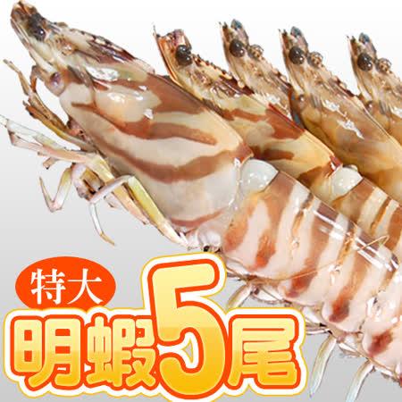 【築地一番鮮】特大鮮甜明蝦2盒(5尾裝/盒/重450g±10%)免運組