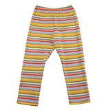 【愛的世界】SUPERKIDS 彈性鬆緊帶橫條紋緊身長褲/內搭褲/6-8歲-台灣製-