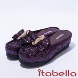 itabella.經典華麗海馬飾釦拖鞋(紫色)