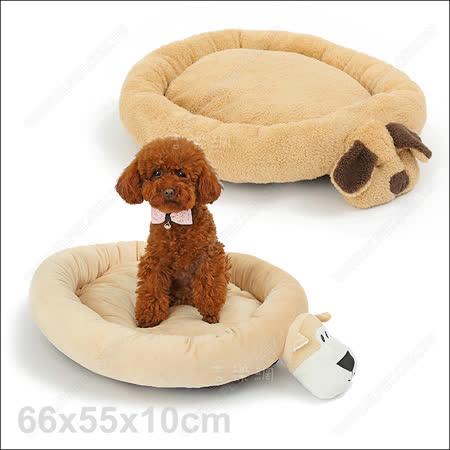 美國Elite《可愛狗造形寵物床》睡墊可獨立拆洗
