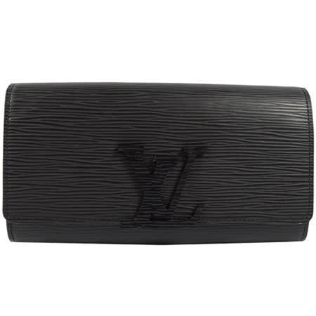 Louis Vuitton LV M60767 Louise EPI水波紋皮革發財包扣式長夾.黑 現貨