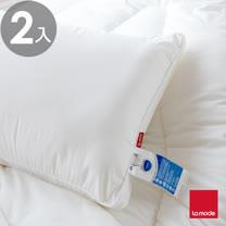 【La Mode寢飾】英威達防蹣可水洗七孔枕(2入)
