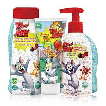 義大利進口 Tom & Jerry 洗髮沐浴牙膏組 洗髮精+潔膚露+牙膏