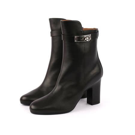 【HERMES】swift皮Kelly Boot中筒靴 ( 黑色)