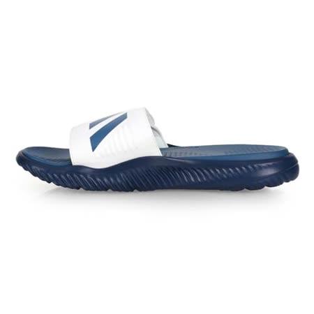 (男) ADIDAS 運動拖鞋-魔鬼氈 游泳 訓練 海邊 海灘 沙灘 戲水 深藍白