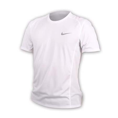 (男) NIKE 短袖針織衫-短T T袖 慢跑 路跑 訓練 健身 反光 白銀