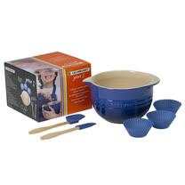 LE CREUSET 瓷器兒童攪拌組 (英國藍)