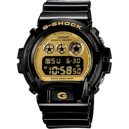 CASIO 卡西歐 G-SHOCK 黑金坦克腕錶 DW-6900CB-1DS