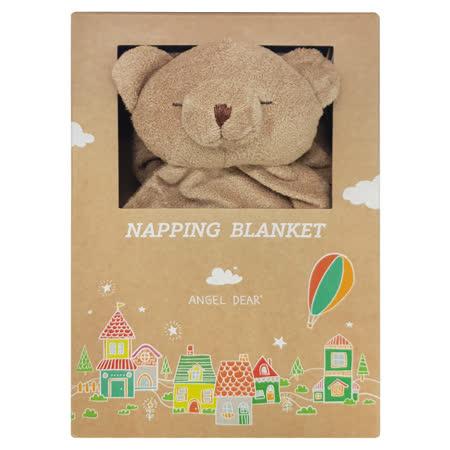 美國 Angel Dear 大頭動物嬰兒毛毯 (棕色小熊)