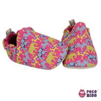 英國 POCONIDO 純手工柔軟嬰兒鞋 (繽紛大象)