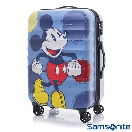 Samsonite新秀麗 Diseny米奇聯名款28吋TSA防刮可擴充行李箱(霧面藍)