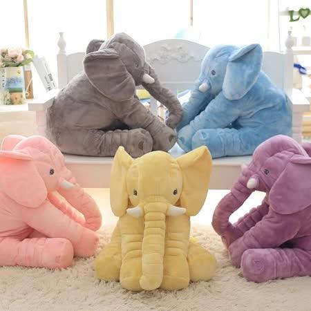 療癒系大象抱枕安撫嬰兒絨毛娃娃靠枕