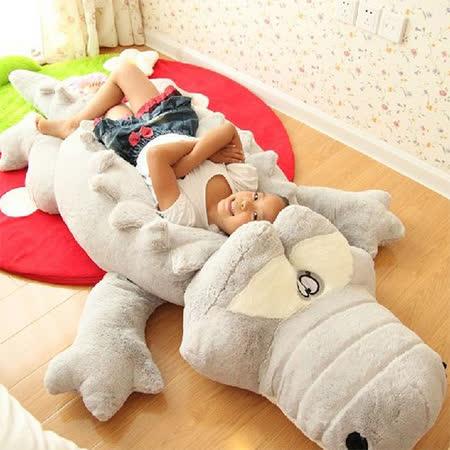 超大鱷魚絨毛抱枕靠枕玩偶160CM(兩色可選)