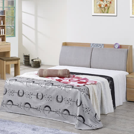 買就送獨立筒歐蕊橡木紋被櫥雙人床組