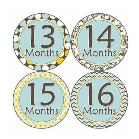 First Year*1~2歲專用*寶寶成長記錄妙衣貼-清新淺藍