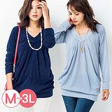 日本Portcros 預購-柔軟褶皺造型長版針織上衣(共六色/M-3L)