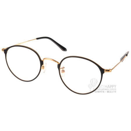 NINE ACCORD 眼鏡 文青細圓框款 (黑-金) #NICRO CL1 C02