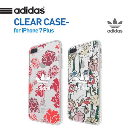 美國正品ADIDAS愛迪達三葉草波西米亞風iPhone7 PLUS透明防摔手機殼(5.5吋)