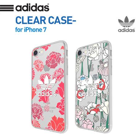 美國正品ADIDAS愛迪達三葉草波西米亞風iPhone7 透明防摔手機殼(4.7吋)