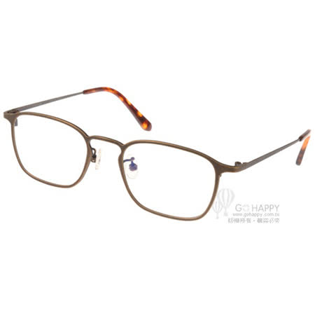 NINE ACCORD 眼鏡 簡約細方框款 (銅-琥珀)  #NICRO SH1 C02