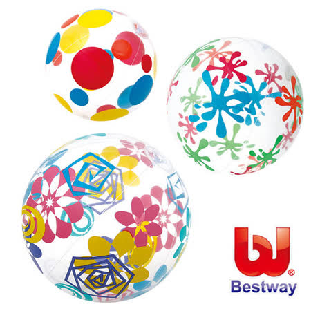 (購物車)《購犀利》美國品牌【Bestway】24吋設計家彩繪充氣水球(款式隨機出貨)
