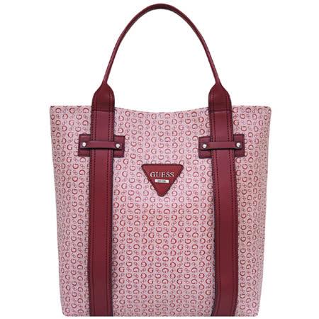 GUESS LOGO PVC托特包-大型(紅色)