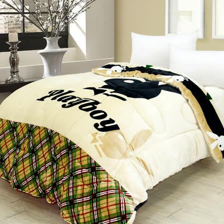【I-JIA Bedding】PLAYBOY授權雙面法蘭絨暖暖被-風尚格紋