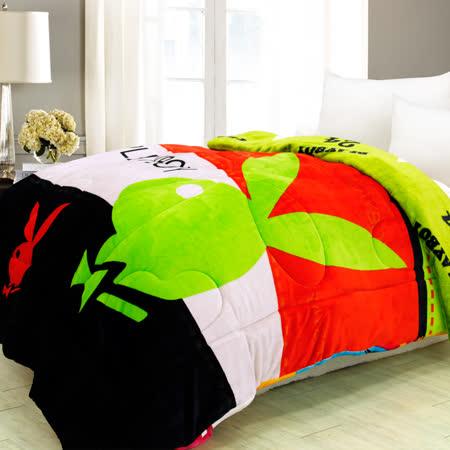 【I-JIA Bedding】PLAYBOY授權雙面法蘭絨暖暖被-紳士品味