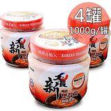 【一等鮮】 韓國大長新泡菜-白菜切塊4罐 (1000g/罐〉