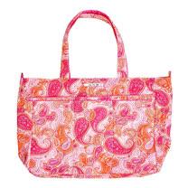 【美國Ju-Ju-Be媽咪包】Super Be 萬用提袋-PerfectPaisley粉紅搖滾