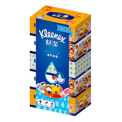 ~舒潔~迪士尼溫和柔感盒裝面紙140抽^(5盒x10串箱^)