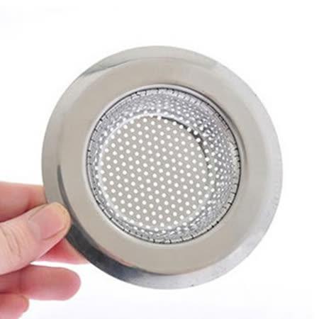 PUSH! 廚房用品外徑11.3CM內徑7.3CM深度2.5CM密合式不鏽鋼流理台水槽濾網HD1016