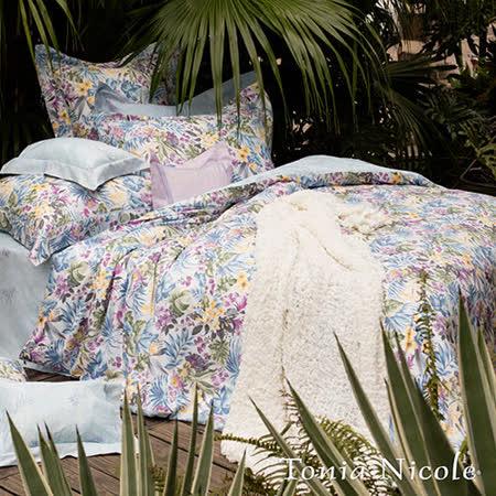 Tonia Nicole東妮寢飾 桃樂絲環保印染精梳棉兩用被床包組(雙人)