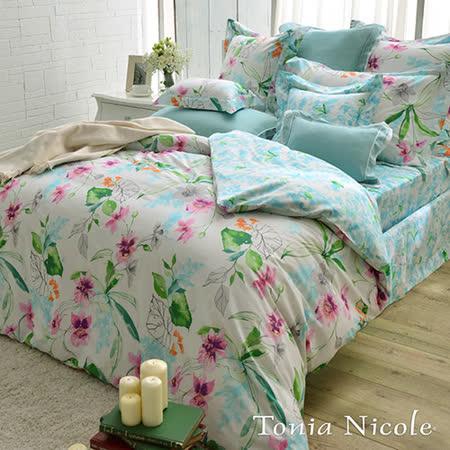 Tonia Nicole東妮寢飾 蜜拉貝兒環保印染精梳棉兩用被床包組(雙人)