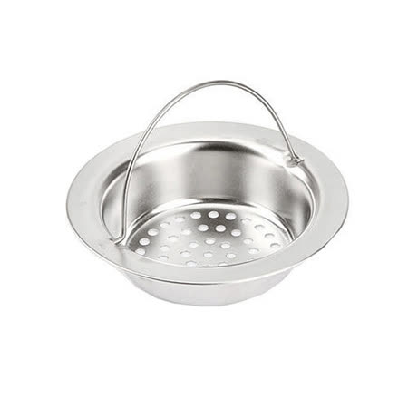PUSH! 廚房用品 外徑11CM內徑8CM深度2.5CM提籃式不鏽鋼水槽濾網HD1011