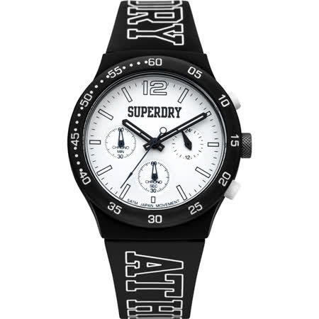 Superdry極度乾燥 青春無止盡三眼運動腕錶-SYG205B