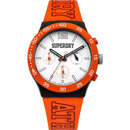 Superdry極度乾燥 青春無止盡三眼運動腕錶-SYG205O