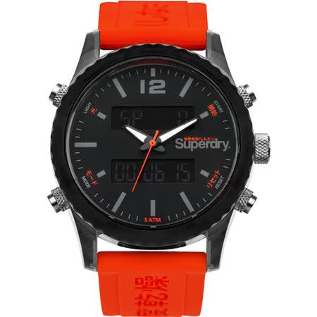 Superdry極度乾燥 極限動能運動腕錶-SYG206O