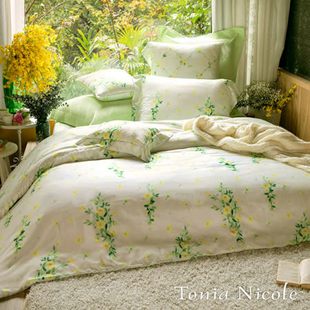 Tonia Nicole東妮寢飾 弗羅倫絲環保印染100%天絲兩用被床包組(特大)