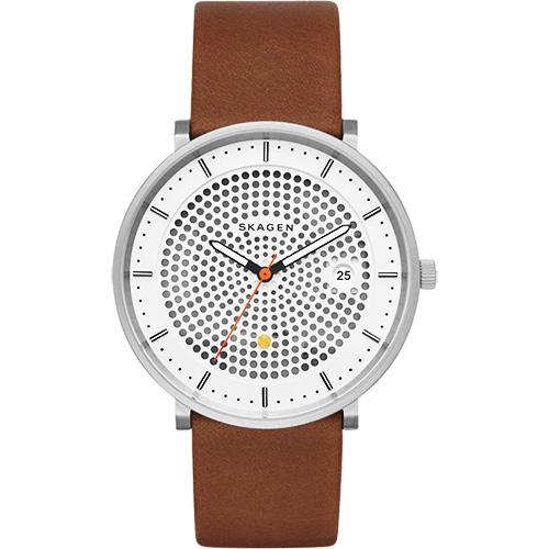 SKAGEN HALD 系列 solar 北歐風女錶~黑x白x咖啡40mm SKW6277