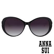 Anna Sui 日本安娜蘇 時尚立體玫瑰圖騰鏡框設計太陽眼鏡(黑色) - AS925-001